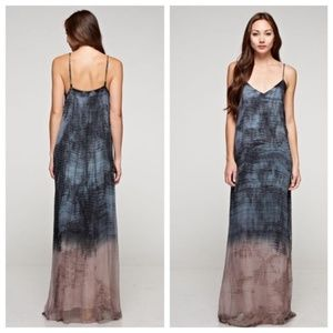NWT Love Stitch Blue Purple Ombre Maxi Dress